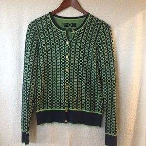 C. Wonder Circle Link Cardigan / Button Up Sweater